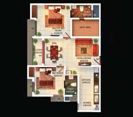 apartments in Kochi city floor plan type a
