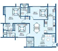 apartments in Trivandrum city floor plans tower1 type b