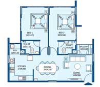 apartments in Trivandrum city floor plans tower1 type c