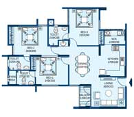 apartments in Trivandrum city floor plans tower2 type a