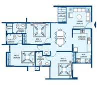 apartments in Trivandrum city floor plans tower2 type b