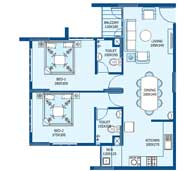 apartments in Trivandrum city floor plans tower2 type c