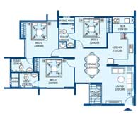 apartments in Trivandrum city floor plans tower2 type d