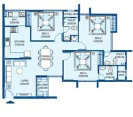 apartments in Trivandrum city floor plans tower2 type e