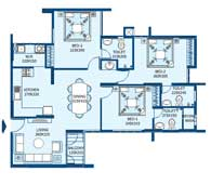 apartments in Trivandrum city floor plans tower2 type g