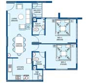 apartments in Trivandrum city floor plans tower2 type h