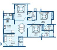 apartments in Trivandrum city floor plans tower2 type i