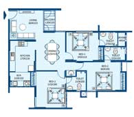 apartments in Trivandrum city floor plans tower2 type j