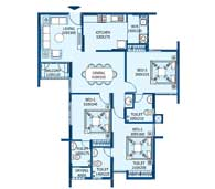 apartments in Trivandrum city floor plans tower2 type k and m