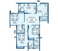 apartments in Trivandrum city floor plans tower2 type l and n