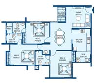 apartments in Trivandrum city floor plans tower2 type o
