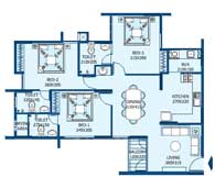 apartments in Trivandrum city floor plans tower2 type p
