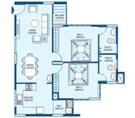 apartments in Trivandrum city floor plans tower3 type c