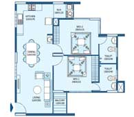 apartments in Trivandrum city floor plans tower3 type d