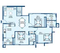 apartments in Trivandrum city floor plans tower3 type e