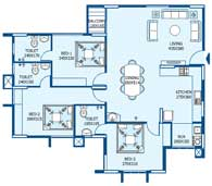 apartments in Trivandrum city floor plans tower3 type f