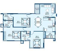 apartments in Trivandrum city floor plans tower3 type g