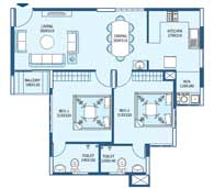 apartments in Trivandrum city floor plans tower3 type i
