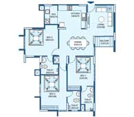 apartments in Trivandrum city floor plans tower3 type j
