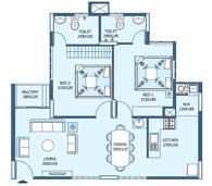apartments in Trivandrum city floor plans tower3 type m