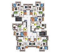 Typical Floor Plan of 1st to 14th Floor