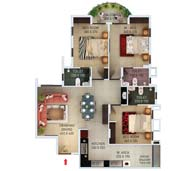 apartments in Kochi city floor plan type b