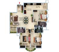 apartments in Kochi city floor plan type c