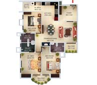 apartments in Kochi city floor plan type d