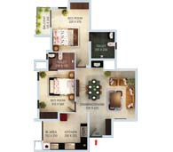 apartments in Kochi city floor plan type e