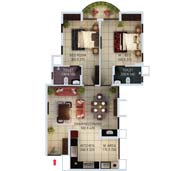 apartments in Kochi city floor plan type f