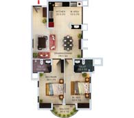 apartments in Kochi city floor plan type g