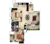 apartments in Kochi city floor plan type h