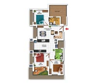 apartments in Kochi city floor plan type i