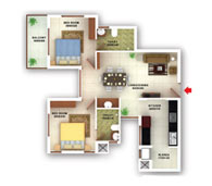 flats in Kottayam floor plans type f
